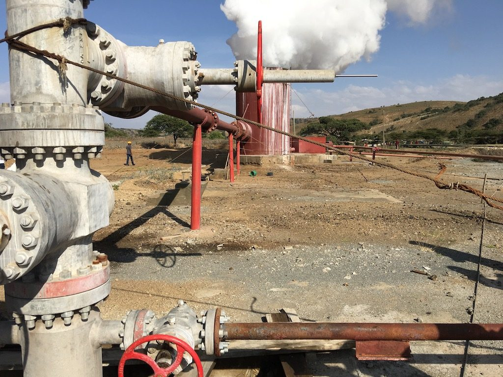 Well on site of Aluto Langano geothermal plant, Ethiopia (source: ThinkGeoEnergy, creative commons)