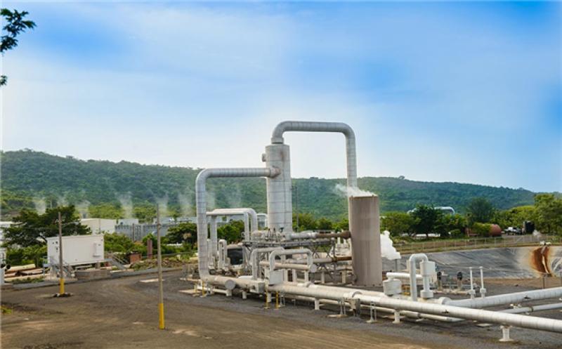 Pipes at San Jacinto geothermal plant, Nicaragua (source: Polaris Infrastructure)