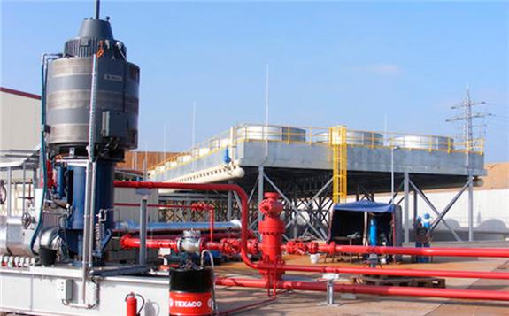 Geothermal power plant at Insheim, Germany (source: Pfalzwerke geofuture)