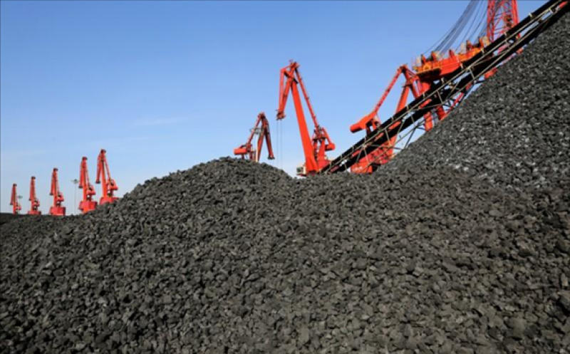 FILE PHOTO: Cranes unload coal from a cargo ship at a port in Lianyungang, Jiangsu province, China December 8, 2018. REUTERS/Stringer