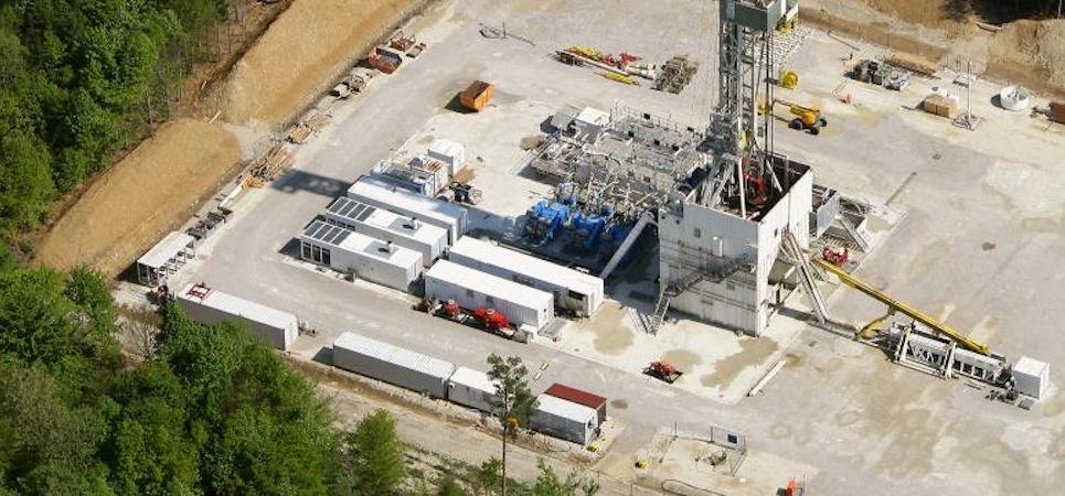 Drilling rig on site in Pullach, Germany (source: Erdwerk)