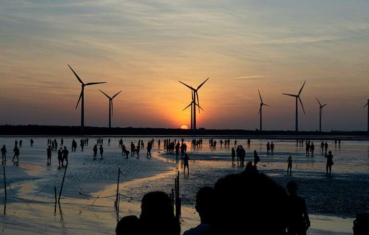 The proportion of electricity generated from renewable sources is increasing fast.