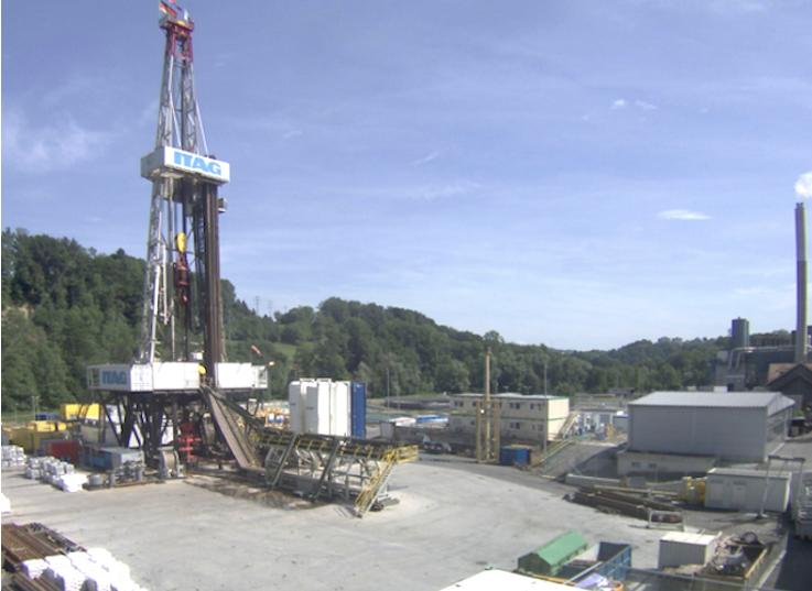 Drilling rig on site in St. Gallen, Switzerland