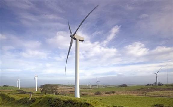 The Llangwyryfon Wind Farm near Aberystwyth, Wales. Image: EDF Renewables