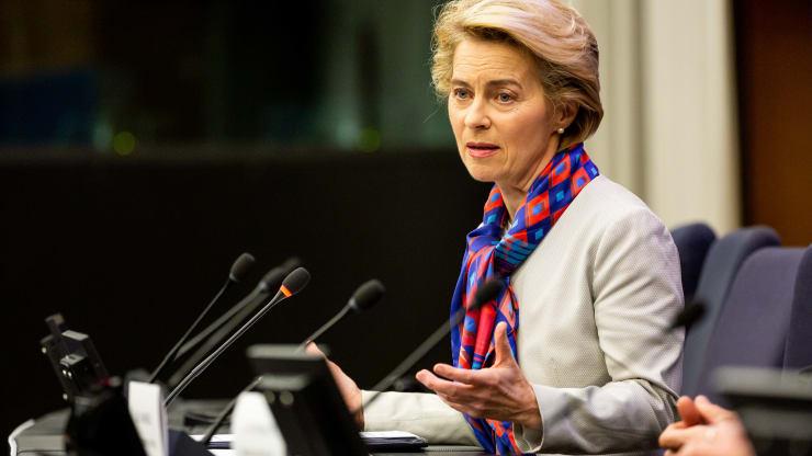 Ursula von der Leyen, the President of the European Commission.