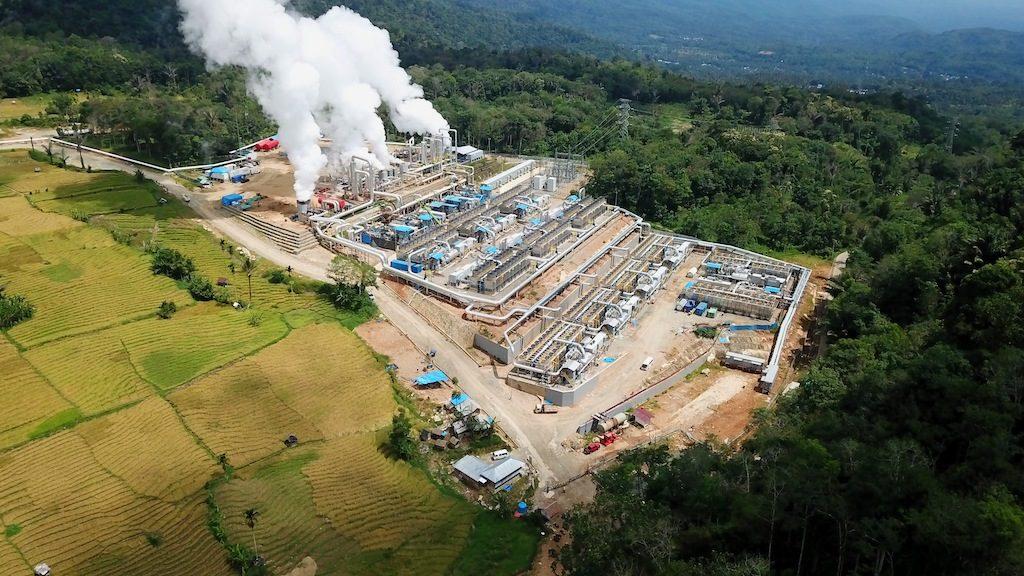 Unit 1 of Sorik Marapi geothermal plant, North Sumatra, Indonesia