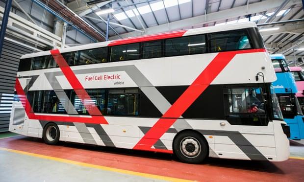 Wrightbus's prototype hydrogen bus. Photograph: Liam McBurney/PA