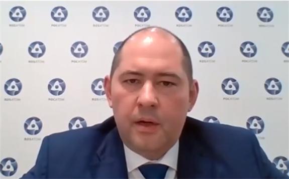 Rosatom CFO Ilya Rebrov at Strategic eForum 2020 (Image: WNN)