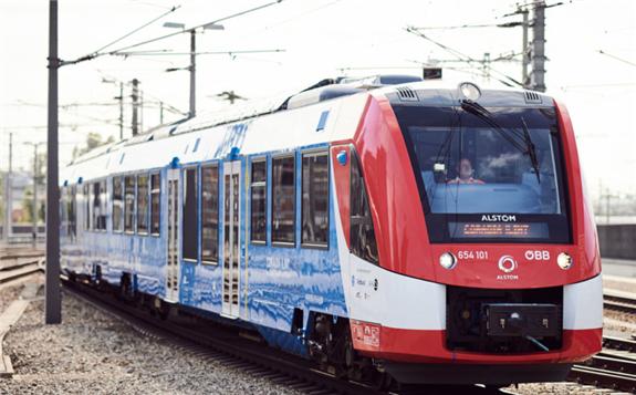 Alstom's Coradia iLint hydrogen powered train: Image: ÖBB/Marek Knopp