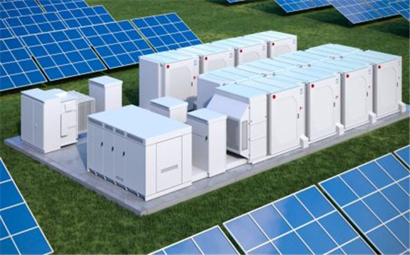 AES-Siemens joint venture company Fluence will provide its Sunstack battery storage systems (pictured) to the project. Image: Fluence.