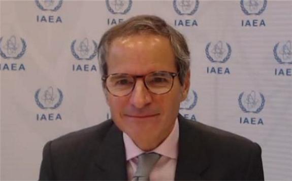 Director General Rafael Mariano Grossi during the NEA webinar on 15 October