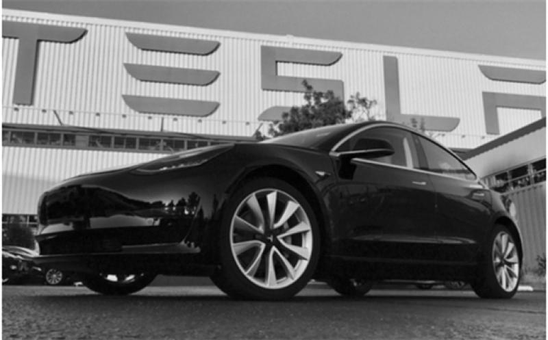 A Tesla EV