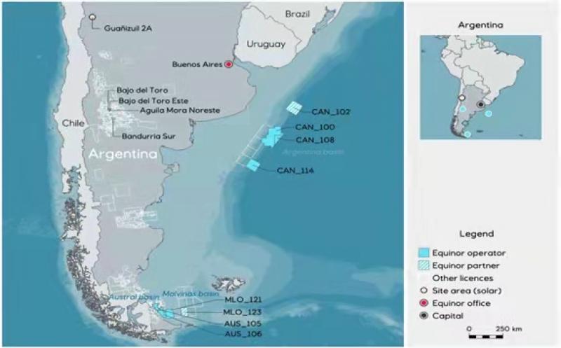 Equinor's activities in Argentina; Source Equinor