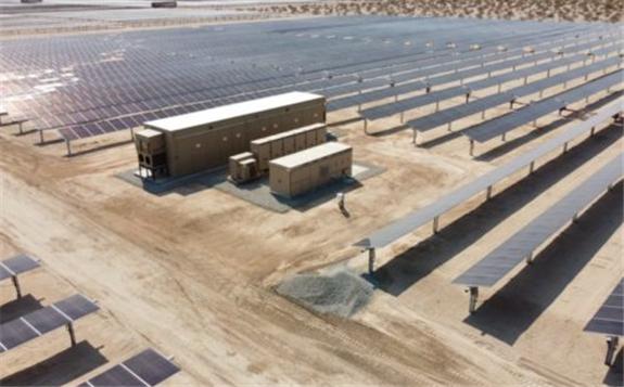 The 100-MW Desert Harvest 2 Solar Project. EDF Renewables
