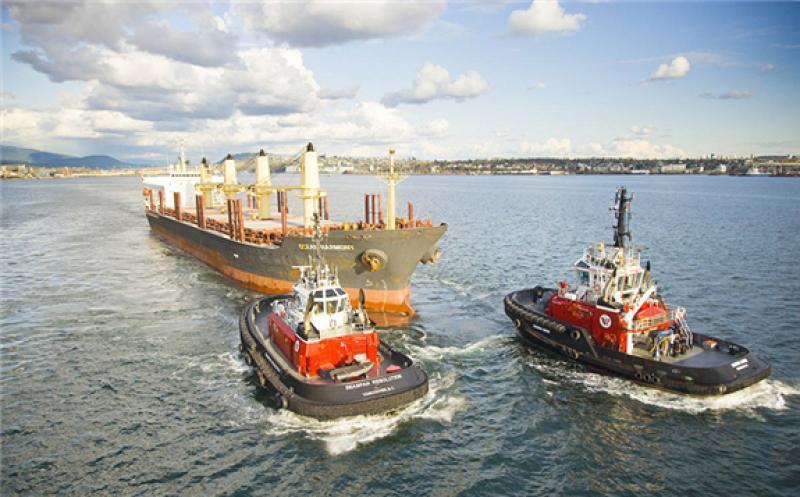 Part of Seaspan's fleet in action. (File photo courtesy of Seaspan)