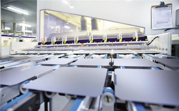 Longi solar cell production line.  Image: Longi