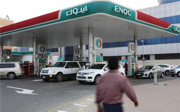 Enoc is the largest fuel retailer in Dubai. Sarah Dea / The National