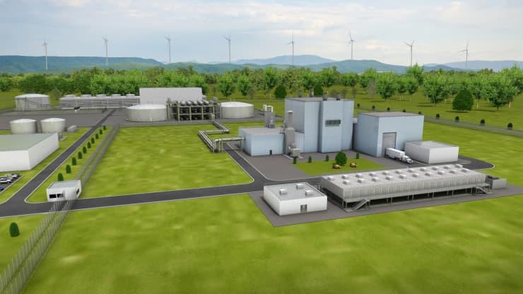 An artist rendering of a TerraPower Natrium power plant.Photo courtesy TerraPower