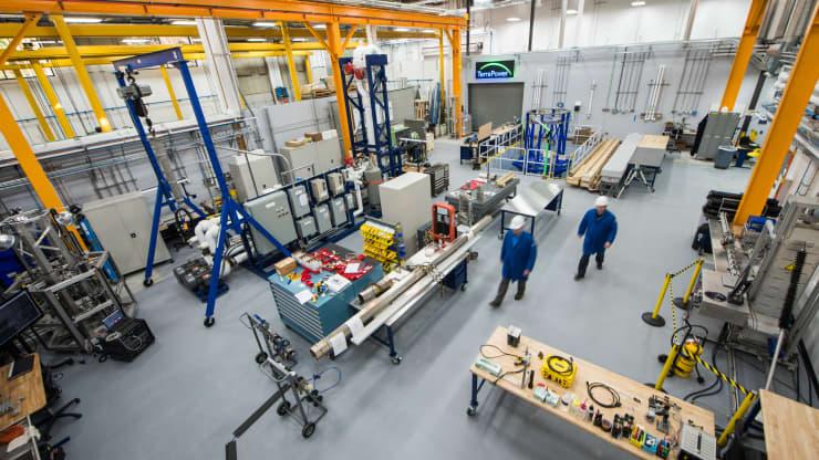 Inside TerraPower's lab.Photo courtesy TerraPower.