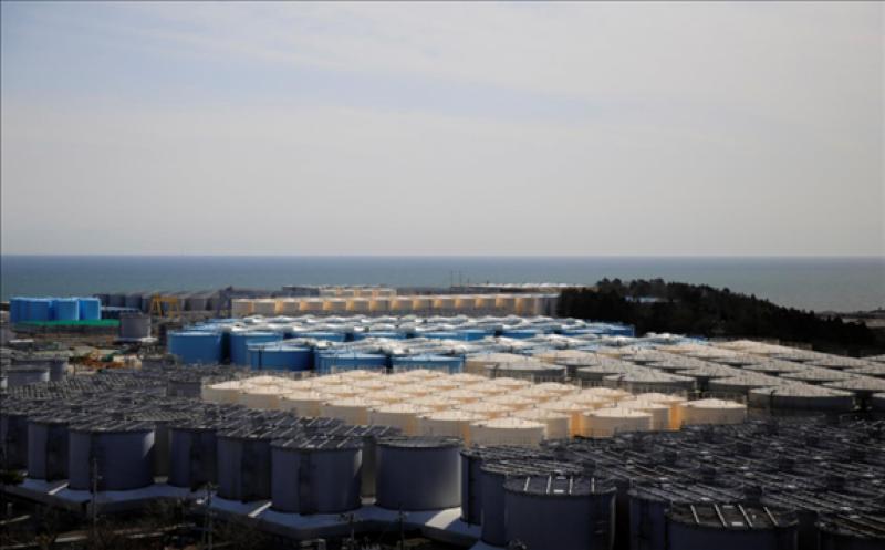 FILE PHOTO: The storage tanks for treated water are seen at the tsunami-crippled Fukushima Daiichi nuclear power plant in Okuma town, Fukushima prefecture, Japan March 1, 2021. REUTERS/Sakura Murakami