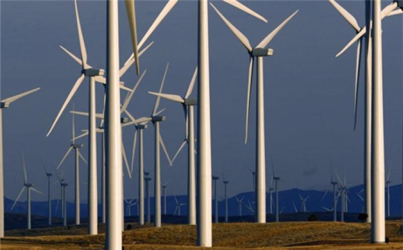 Wind turbines near Glenrock, Wyo. (AP Photo/Matt Young/The Conversation).