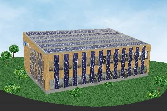 The future company building in Sierning, Upper Austria.