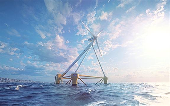 X1 Wind's new floating wind platform.