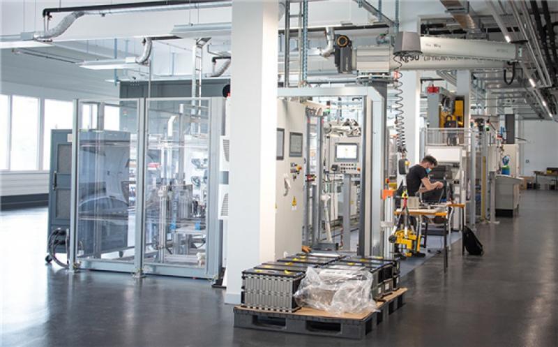 Leclanché's new module assembly line in Yverdon-les-Bains, Switzerland.  Image: Leclanché