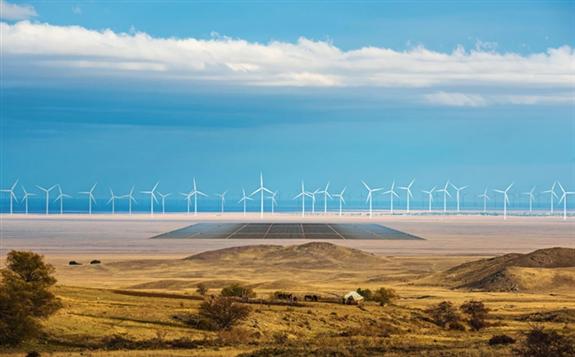 Photoshopped image: German company Svevind is planning a monster 45-gigawatt renewable energy scheme in KazakhstanSvevind
