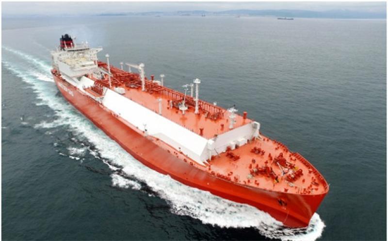 An LNG carrier built by Hyundai Heavy Industries