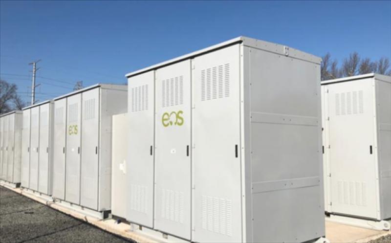 he EOS batteries built in Turtle Creek. EOS ENERGY STORAGE