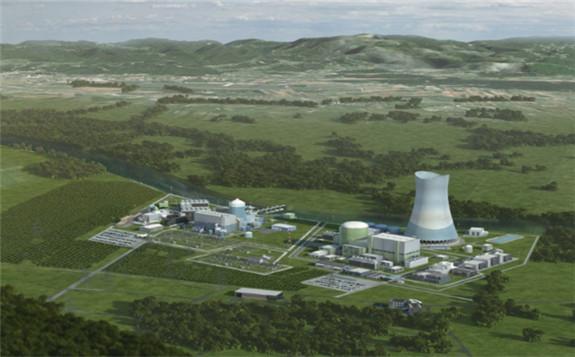 How the new unit could look alongside the existing Krško reactor (Image: GEN Energija)