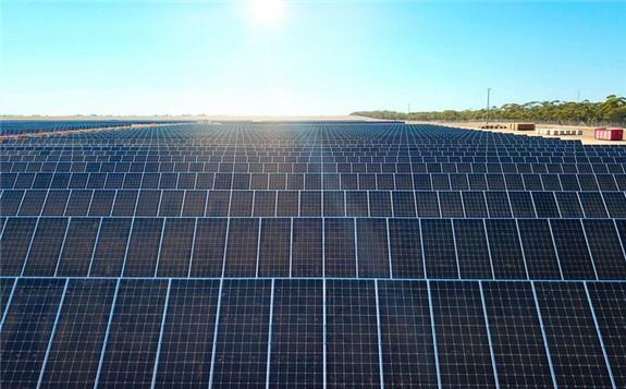 An existing solar farm in Victoria, Australia. Image: Trina Solar.