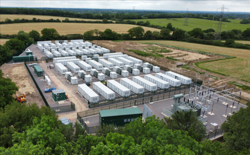 The Minety site consists of two 50MW batteries. Image: RES.