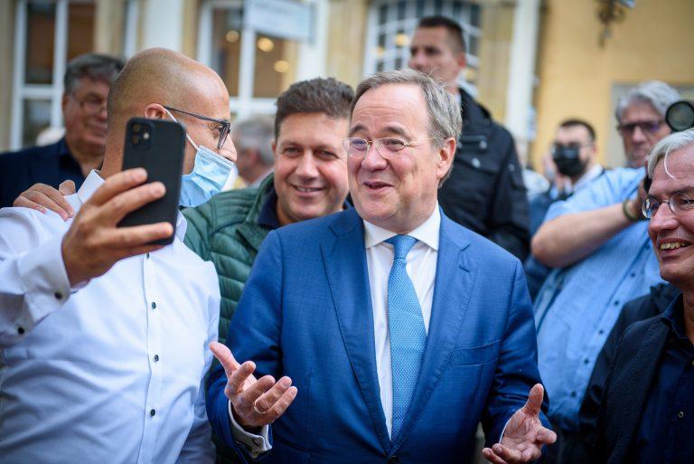 CDU leader Armin Laschet on the campaign trail in August 2021. Credit: Dirk Vorderstraße under CC BY 2.0.