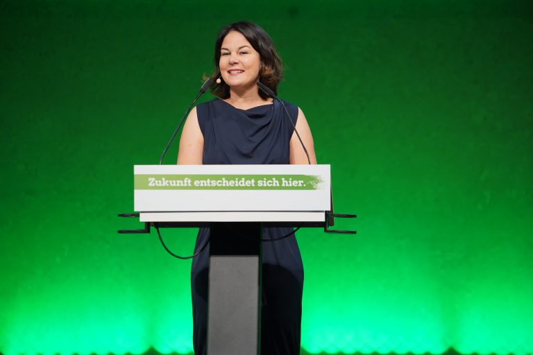 Annalena Baerbock has led the Green Party during its rise. Credit: Green Party CCBYSA2.0.