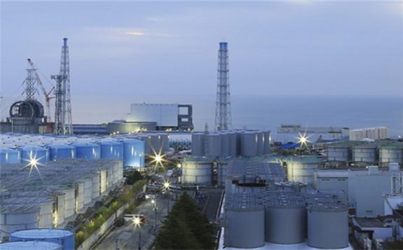 Tanks of treated water at the Fukushima Daiichi site (Image: Tepco)