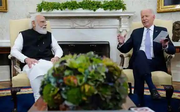 President Joe Biden meets with Indian Prime Minister Narendra Modi  (AP)
